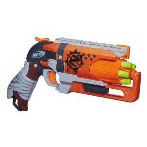Die Nerf Hammershot Pistole ist die beliebteste Handfeuerwaffe aus der Zombie Strike Serie.