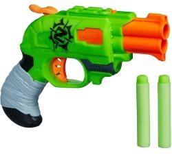 Die Nerf Zombierevolver Strikes mit 2 Schuss.