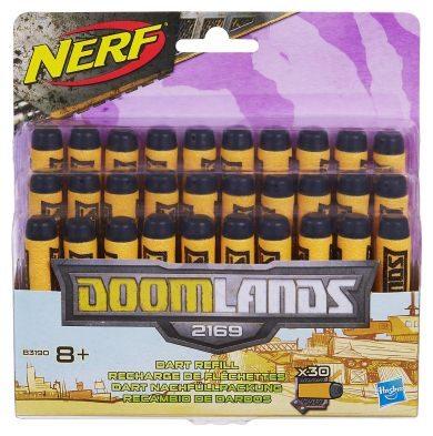 Passende Doombringer 2169 Nerf Darts in gelb und schwarz.