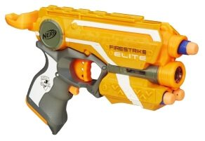 Die Firestrike in orange mit Laserpointer.