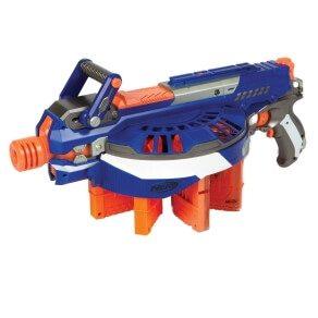 Hail Fire mit bis zu 8 Magazinen in blau, orange und weiß.