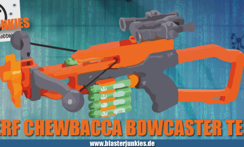 Nerf Chewbacca Bowcaster Test.