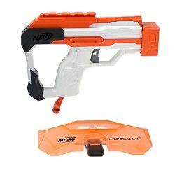 Mit dem Nerf Mission Kit erhält man einen Schutzschild und einen Zusatzblaster.